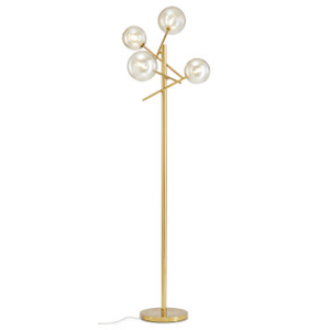 Modern Nordic Standing Lamp with Clear Glass Globes
