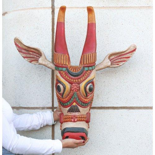 Vintage Wood Cow Head xlarge