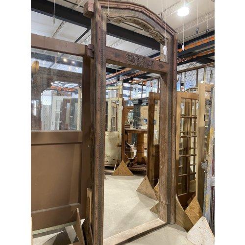 Indian Arched Wooden Carved Frame