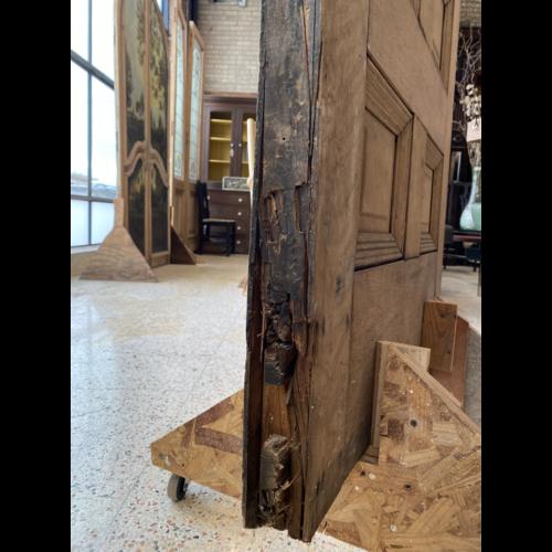4 Panel Half Light Quarter Sawn Oak Door