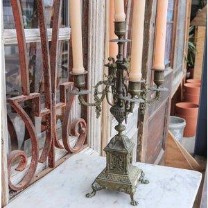 Brass Victorian 5 Candle Candelabra