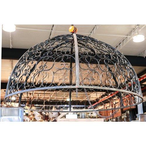 Steel Dome Gazebo with 6 Stone Pillars
