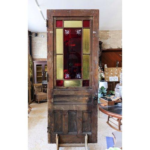 1800's Stained Glass Door