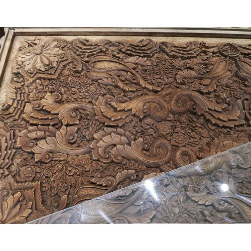 Hand Carved Wooden Coffee Table