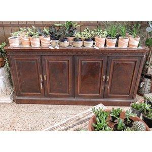 Wood Ornate Credenza