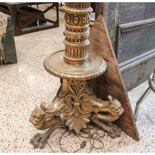 Solid Brass Gothic Street Lamp with Glass Globe