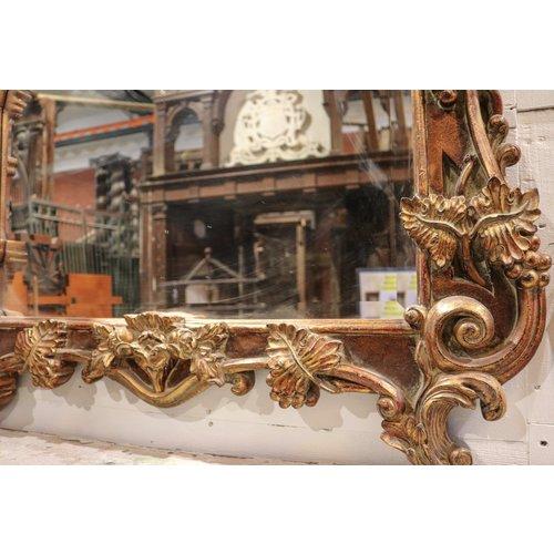 Golden Wood Mirror