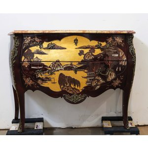 Antique Console with Marble Top