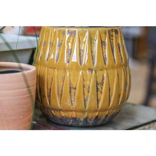 Mustard Terra-cotta Pot