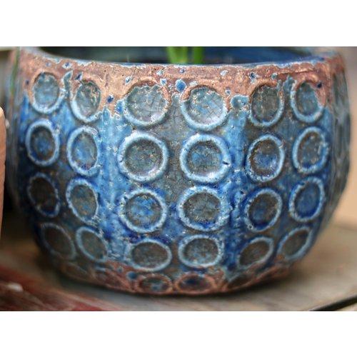 Terra-cotta Circle Pattern Pot