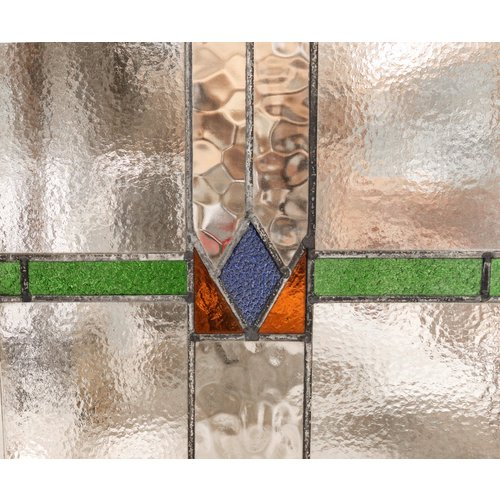 Stained Glass Window - Blue Diamond