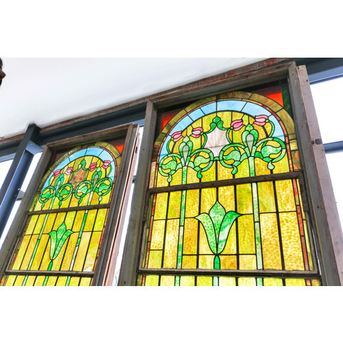 Stained Glass Double Vent Church Windows