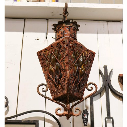 Spanish Revival Exterior Light with Glass