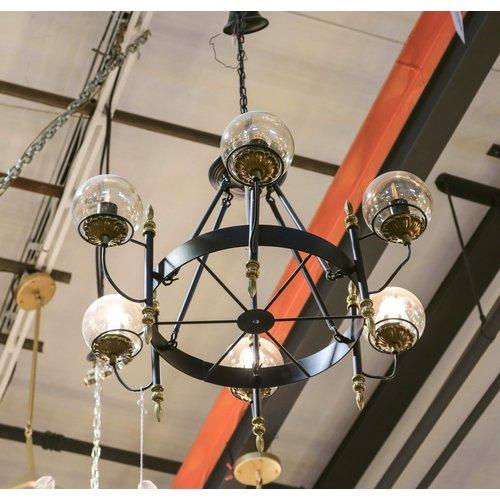 MODO Glass Loft Industrial Chandelier with Globes