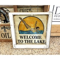 Welcome to the Lake Sign from St Louis
