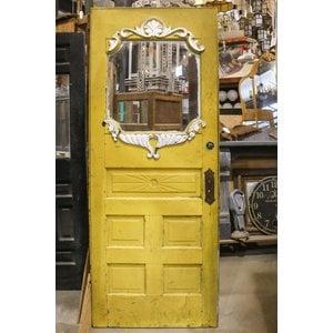 Victorian Sunburst Yellow Door 1 Light 5 Panel