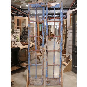 Chippy Blue And Red French Doors