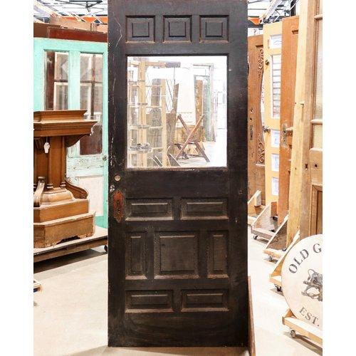 Half Glass Wood Design Door