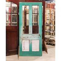 Green Pantry Door 2 Light 2 Panel
