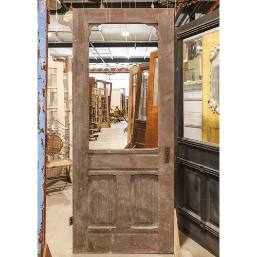 2 Panel Half Glass Door