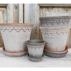Kobenhavner 18cm Pot & Saucer Antique Grey