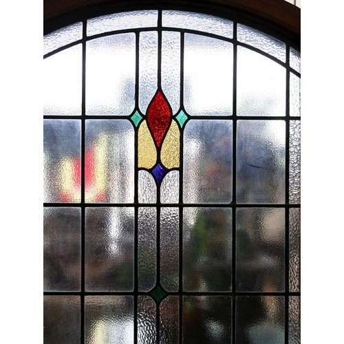 Framed English Stained Glass Window