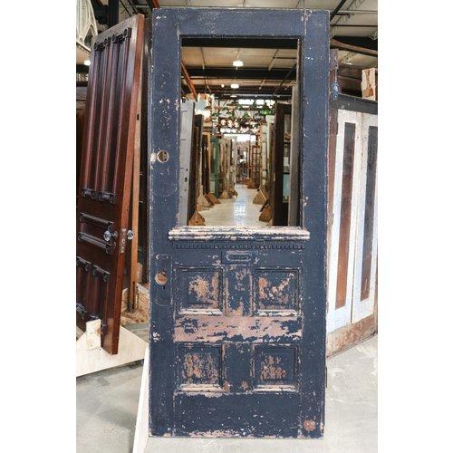 4 Panel Half Glass Door w/ Letters Slot
