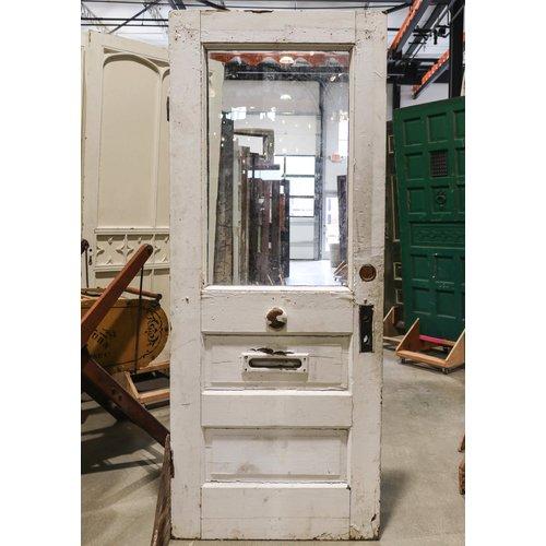 2 Panel Half Light Door with Mailbox