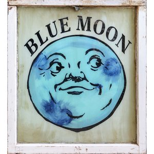 Blue Moon Painted Sign from St. Louis