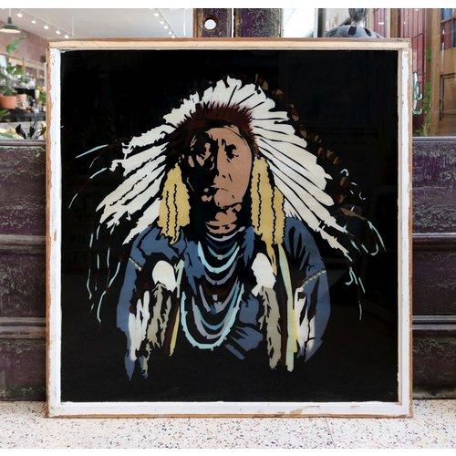 Native American Chief St. Louis Window