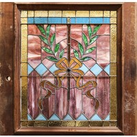 2 Panel Half Light Old English Door with Stained Glass