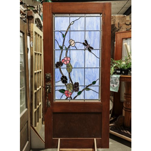Dragon Fly Stained Glass Door