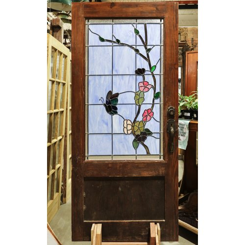 Butterfly Stained Glass Door
