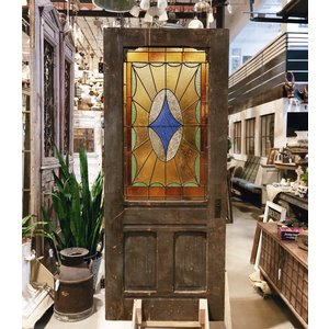 Warm Tones  Stained Glass Door by D.A