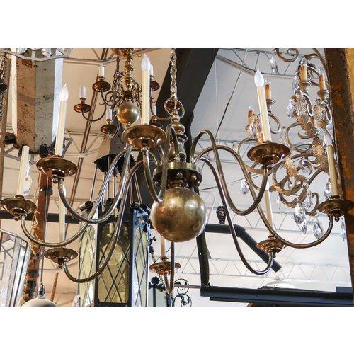 Brass 8 Socket Chandelier
