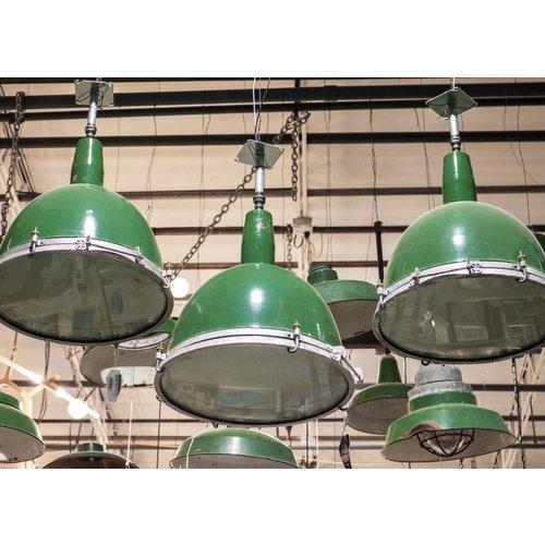 Porcelain Green Enamel Industrial Light