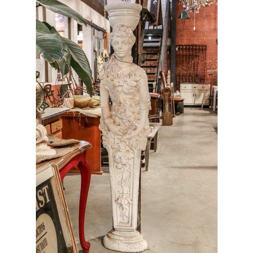Cast Concrete Romanesque Floral Woman