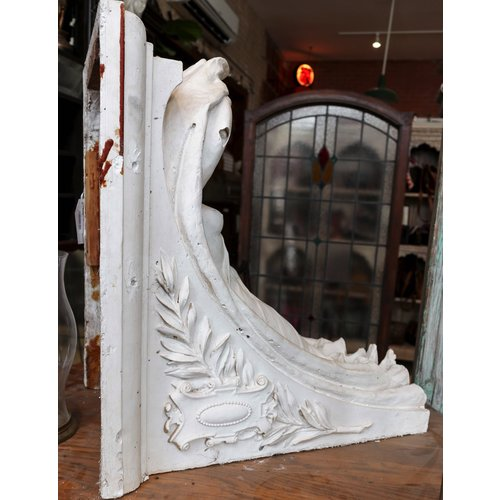 Plaster Corbel with Lady