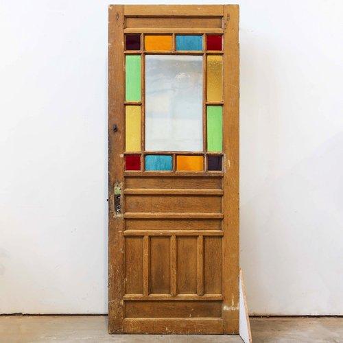 1890's Half Light Stained Glass Door