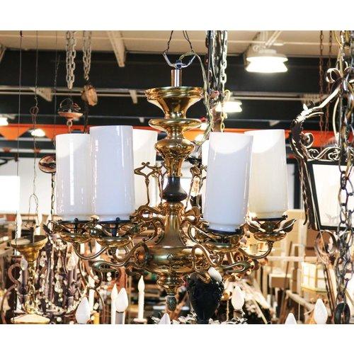 Brass Art Nouveau Light Fixture