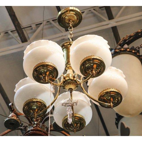 Brass Decorative 5 Socket Chandelier