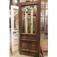 2 Panel Half Glass Door w/ Ornate Trim