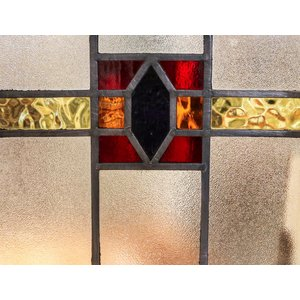 English Stained Glass- Maroon and Gold Belt