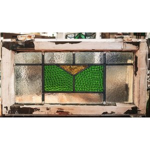 English Stained Glass- Green And Yellow