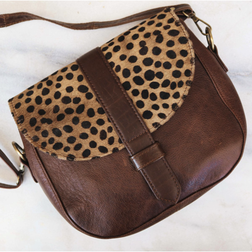 Cheetah Print Leather Crossover