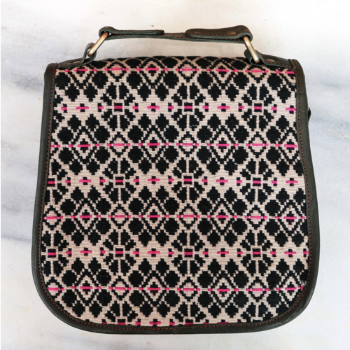 Touch of Pink Leather Satchel