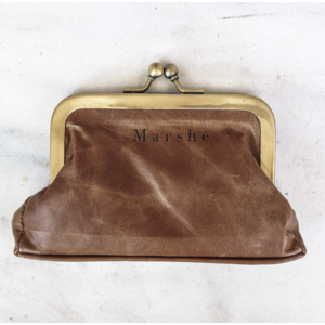 Marshe Brown Leather Coin Purse- Marshé Leather
