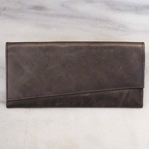 The Almost Perfect  All Leather Wallet- Grey