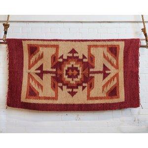 Marshé Home- Guatemala Hand-Woven Wool Rug, No. 12