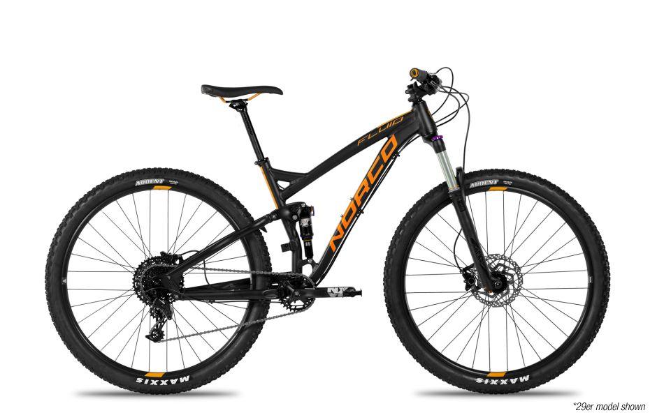 Norco Bicycles 18 Norco FLUID 3 FS L29 BLK/ORANGE